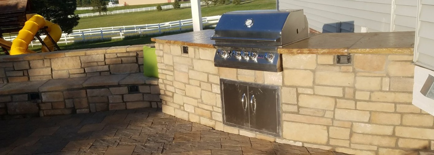 denver outdoor Kitchen masonry