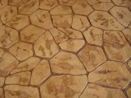 Rustic Stamped Concrete is popular among Denver homeowners