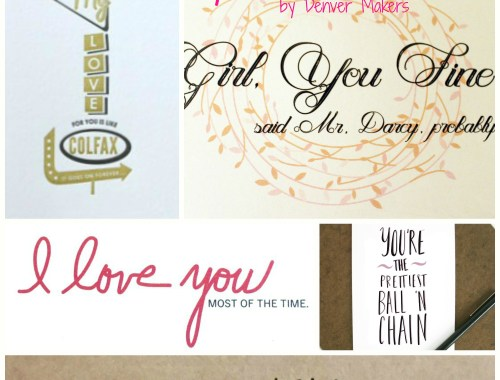 Shop Local: Funny Valentines by Denver Makers