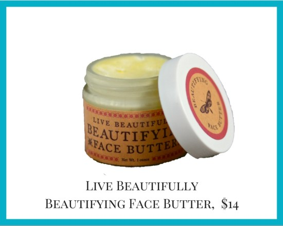 Local Colorado gifts Live Beautifully face butter