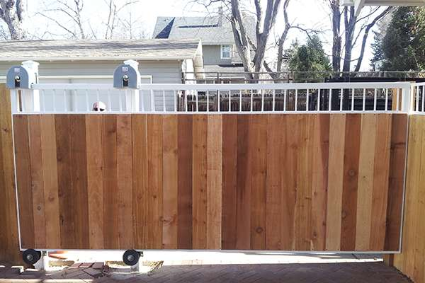 wood gate closed A Straight Up Fence Company Denver