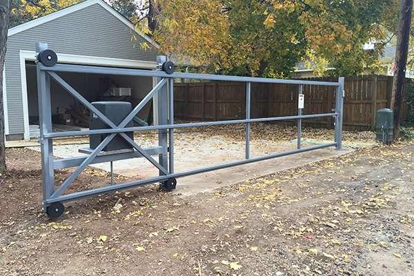 grey gate A Straight Up Fence Company Denver