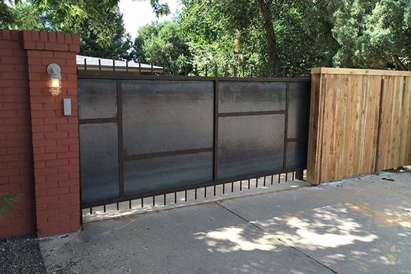 metal security fence A Straight Up Fence Company Denver