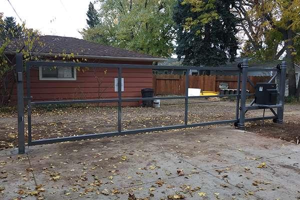 big grey gate A Straight Up Fence Company Denver
