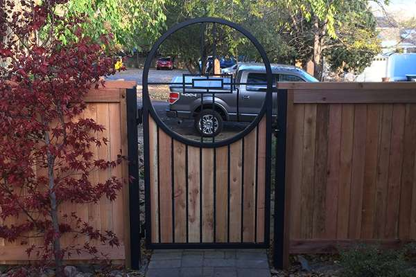 round gate A Straight Up Fence Company Denver