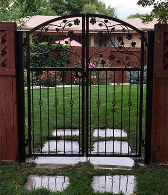 small metal gate A Straight Up Fence Company Denver