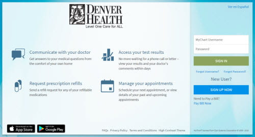 Denver health mychart homepage also patient portal rh denverhealth