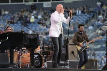 The Fray performs at Invesco Field at Mile High May 21, 2011 as the opener for U2 who kick off their North American Tour 360 with their first stop in Denver. John Leyba, The Denver Post
