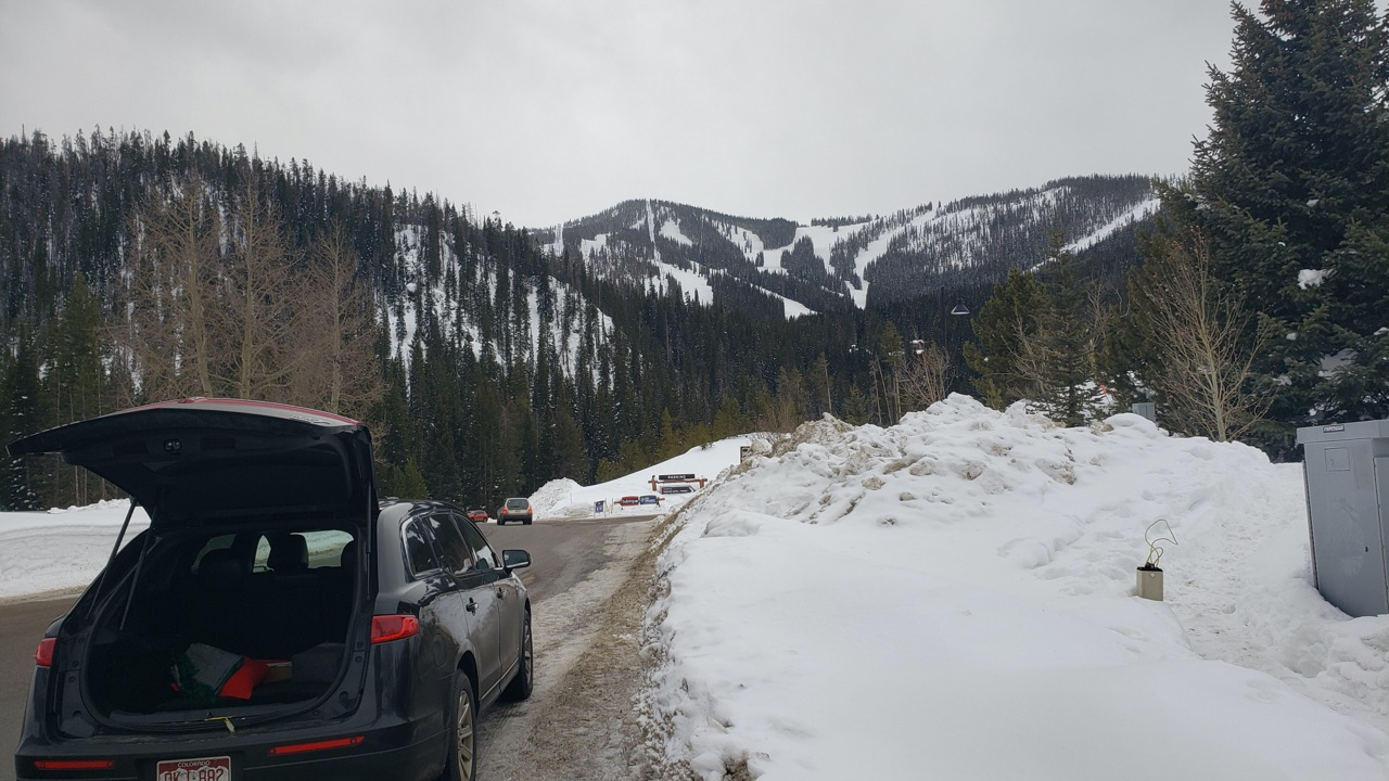 Black car arriving at Winter Park