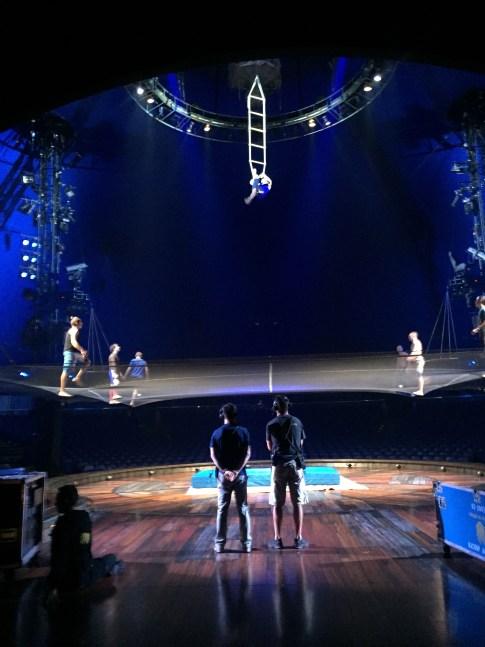 Cirque du Soleil Kurios Acro Net rehearsal