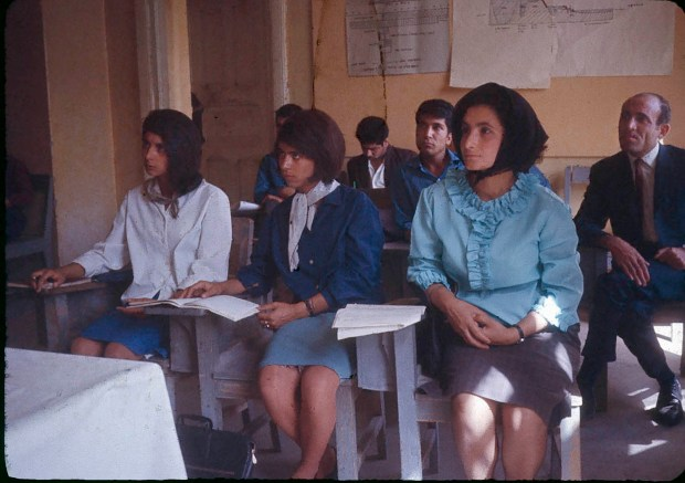 Students at the Higher Teachers College of Kabul where Dr. Podlich, the photographer, worked and taught for two year's with the United Nations Educational, Scientific and Cultural Organization.