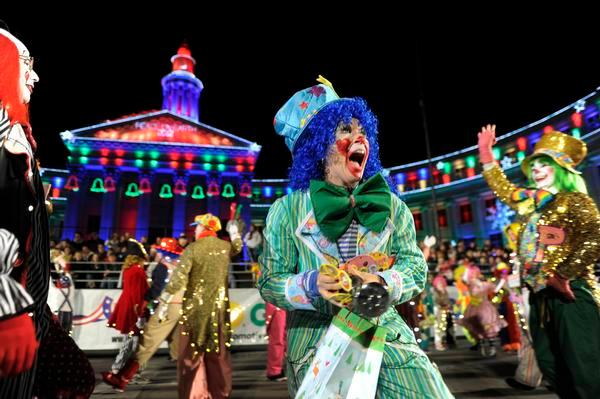 This 2012 file photo shows the annual Parade of Lights in downtown Denver