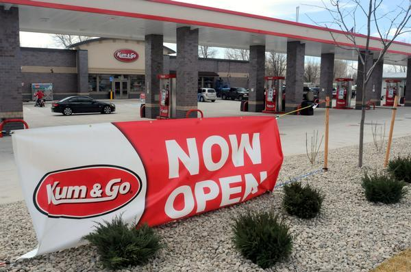 Cars roll into a new Kum & Go gas station and convenience store that opened in Loveland in March.