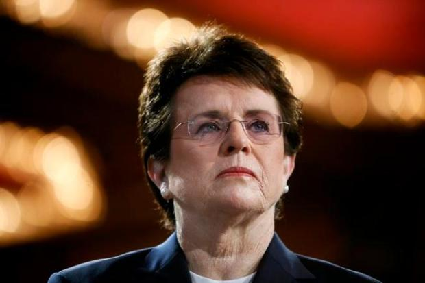 Tennis champion Billie Jean King ...