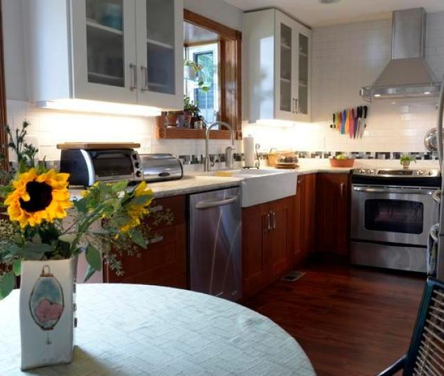 Freelance Writer Lisa Greim Recently Modeled The Kitchen In Her 35 Year Old Arvada Home Above Saving By Doing Some Of The Work Herself Compromising On