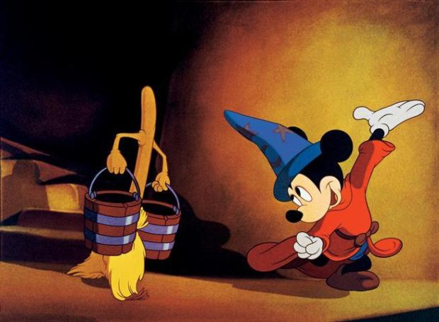 "The Colorado Springs Philharmonic will perform selections from Disney's ""Fantasia,"" which is celebrating its 75th birthday this year, May 8-9 at the Pikes Peak Center. Pictured: Mickey Mouse leads an enchanted broom through the segment for ""The Sorcerer's Apprentice."""