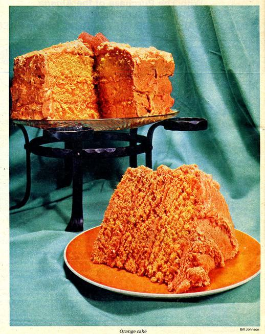 Three-layer orange cake