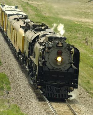 Historic steam engine No. 844 will again pull the Denver Post Cheyenne Frontier Days train. The locomotive, built in 1944, last led The Post special to Cheyenne in 1998.