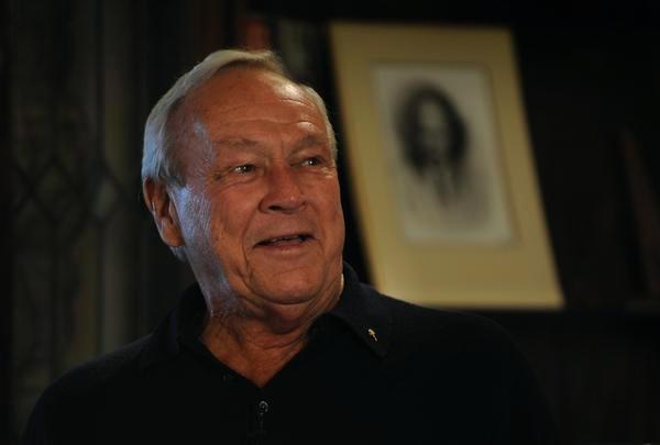 Arnold Palmer speaks on June 2, 2009, at Cherry Hills Country Club, the site of his lone U.S. Open victory in 1960. Palmer died Sunday in Pittsburgh at age 87.
