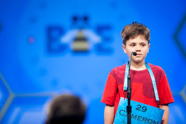Cameron Keith, 10, of Boulder, CO, participates in the 2016 Scripps National Spelling Bee on Wednesday, May 25, 2016 at the Gaylord National Resort and Convention Center in National Harbor, Maryland.