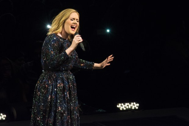 LISBON, PORTUGAL - MAY 21: Adele performs at Meo Arena on May 21, 2016 in Lisbon, Portugal. (Photo by Pedro Gomes/Getty Images)