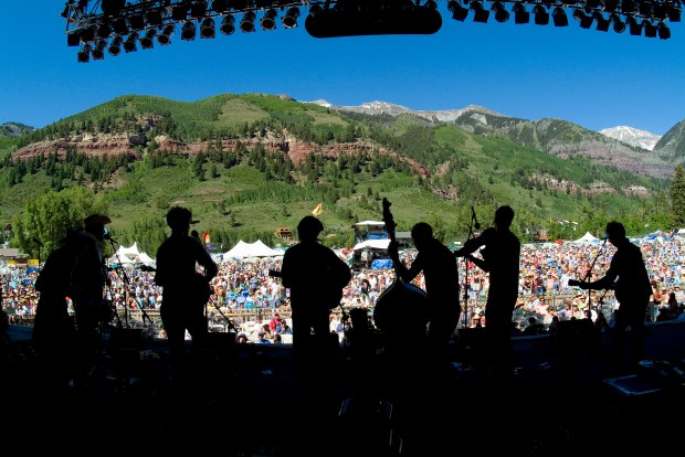 A scene from Telluride Bluegrass Festival. Photo courtesy of Planet Bluegrass.