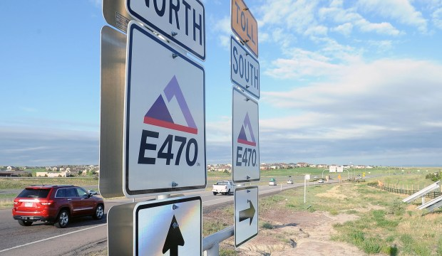 AURORA, CO - MAY 26: E-470 will undergo a big expansion in each direction between Parker Road and Quincy E-470 as the tollway nears its 25th anniversary. This is the view looking west from Gartrell Road, Thursday, May 26, 2016. (Photo by Steve Nehf/The Denver Post)