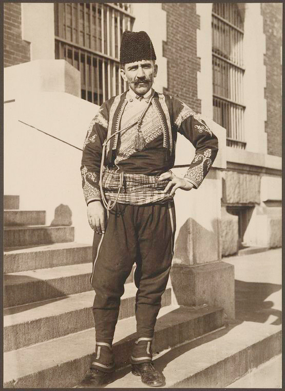 Turkish man. Photo courtesy of New York Public Library Digital Collections.