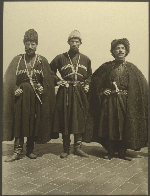 Russian Cossacks. Photo courtesy of New York Public Library Digital Collections.