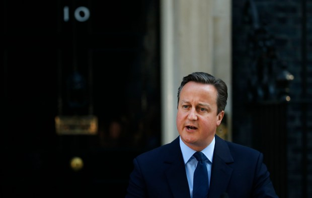 Britain's Prime Minister David Cameron speaks to the media in front of 10 Downing street, as he goes on to announce his resignation following the result of the EU referendum, in which the Britain voted to leave the EU, in London, Friday, June, 24, 2016.