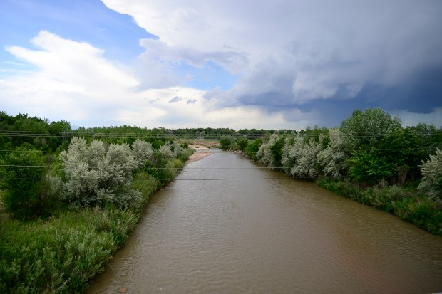 COLORADO SPRINGS, CO - JUNE 8: Fountain Creek runs through the community of Security on June 8, 2016. A invisible toxic chemical has been discovered in the drinking water that affects 70,000 people in the communities south of Colorado Springs. (Photo by Michael Reaves/The Denver Post)