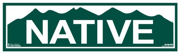 """The classic Colorado """"Native"""" bumper sticker."""