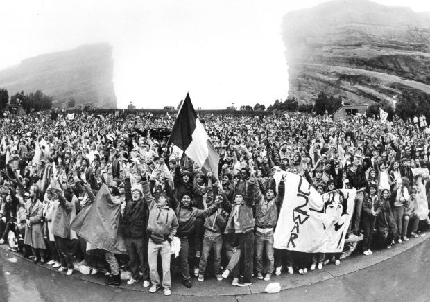 U2 fans at Red Rocks during their show in 1983.