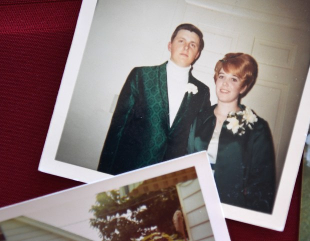 LITTLETON, CO - JUNE 27: Barry and Mary Drotar still have a photo of themselves during prom in 1968, at their home in Littleton, June 24, 2016. A year before the photo was taken Mary and Barry had a baby, Patrick Meeker, who was put up for adoption, by his then-teenage parents. Meeker used Ancestry.com's DNA test to track down a couple of second cousins and, eventually, connect with his birth parents, Mary and Barry Drotar. (Photo by RJ Sangosti/The Denver Post)