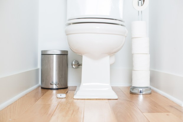 Notion sensors can detect leaks and alert you so if you're away from home, you can call a plumber to fix it -- and then a cleaning service so your bathroom is pristine again. Image courtesy of Notion