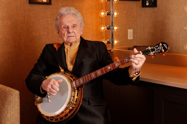 This March 11, 2011 photo shows Ralph Stanley backstage at the Grand Ole Opry House in Nashville, Tenn.