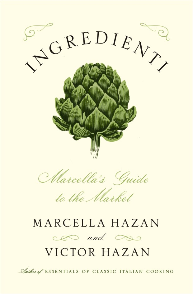 """This image provided by Scribner shows the cover of """"Ingredienti,"""" a new book created by Victor Hazan using the notebooks left by his late wife, the famed cookbook writer Marcella Hazan."""
