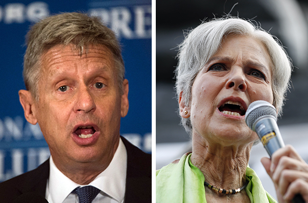 Libertarian presidential candidate Gary Johnson and Green Party candidate Jill Stein.
