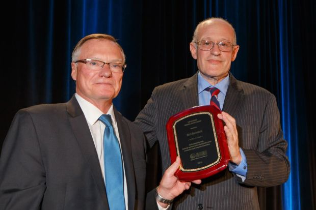 The Sam Cochran Criminal Justice Award, presented to Rick Raemisch by Ron Honberg, Senior Policy Advisor to NAMI in Denver on Saturday, July 9, 2016.