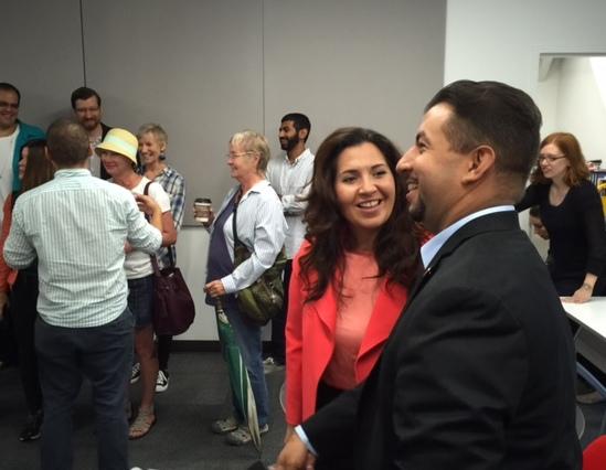 Crisanta Duran and Paul Lopez