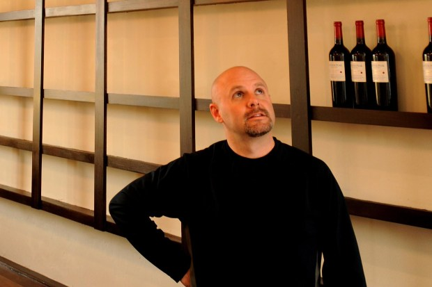 Jesse Morreale stands behind the bar of Sketch, a former wine bar located on South Broadway March 13, 2009.