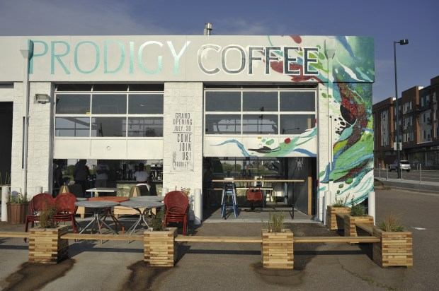 Prodigy Coffeehouse, near 40th Avenue and Colorado Boulevard in Denver, employs low-income young people (after training them on barista skills) in an effort to give them more social mobility.