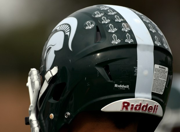 Aurora Central football helmet