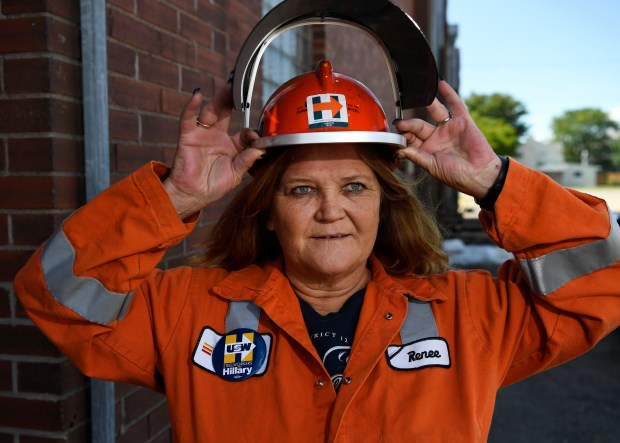 Steel worker and Hillary Clinton supporter Renee Johnson