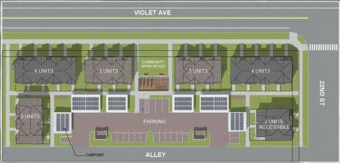 Flatirons Habitat for Humanity's biggest-ever proposal in Boulder calls for 19 units on just more than an acre of land off Violet Avenue in north Boulder.
