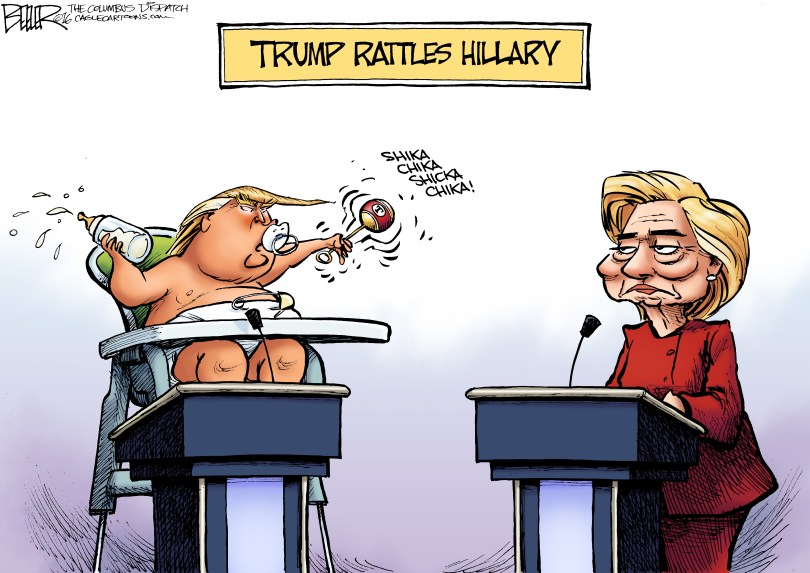 Image result for trump debate cartoons