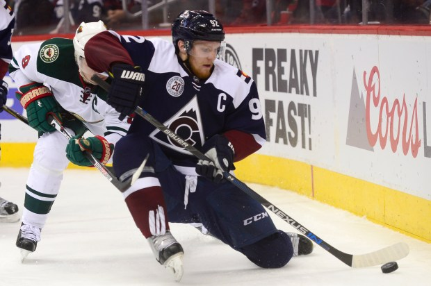 Colorado Avalanche left wing Gabriel Landeskog