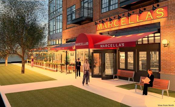 Italian cafe Marcella's will open next summer on the ground floor of the Centric LoHi apartment complex at 18th and Central streets.