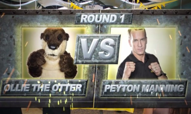 Former quarterback, Peyton Manning goes head to head with former spokesperson Ollie the Otter in a series of ads airing on ESPN Sept. 16 through Oct. 31.