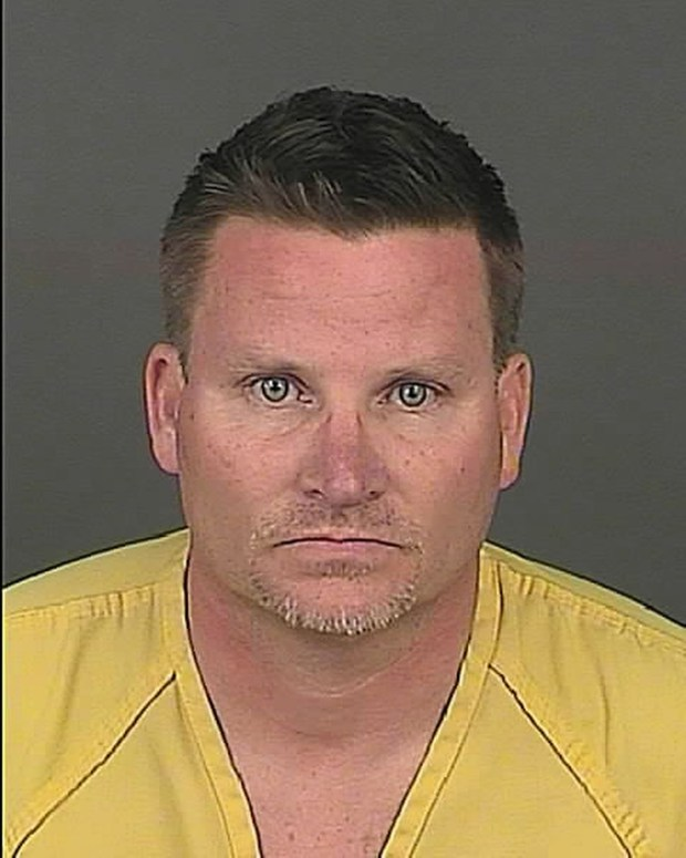 This undated file photo provided by the Denver Police Department shows Richard Kirk. The Denver man accused of eating marijuana-infused candy he bought at a legal pot shop and then killing his wife while she described her husband's erratic behavior on a 911 call has changed his plea to not guilty by reason of insanity.